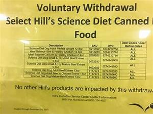 WITHDRAWAL ALERT: Hill's Science Diet Canned Dog Food - i ...