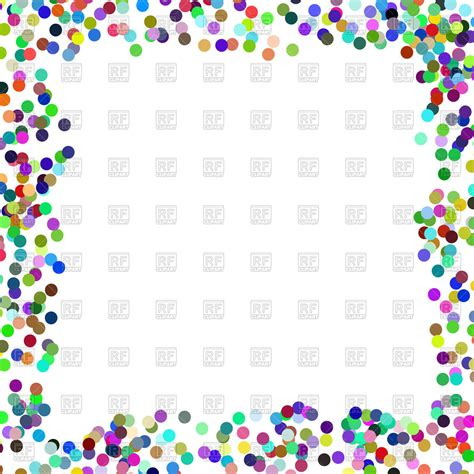 colorful confetti frame vector image  borders  frames