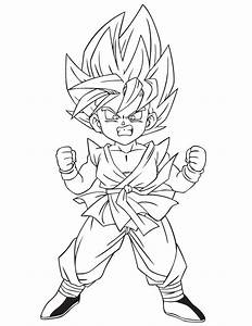 Kid Goku Ssj2 Colouring Pages - Coloring Home