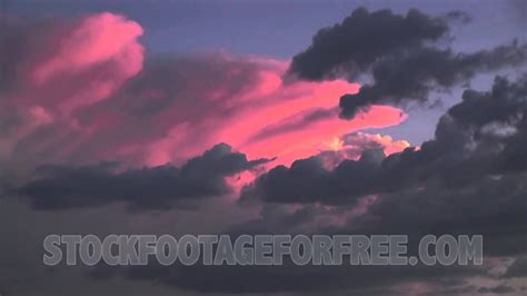 Free HD Timelapse Stock Footage Pink Clouds at Sunset