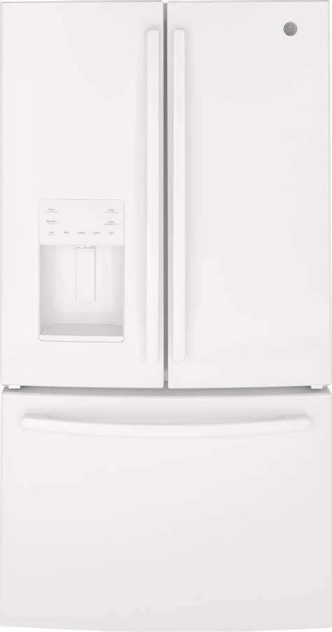 gfejgmww ge   cu ft french door refrigerator white