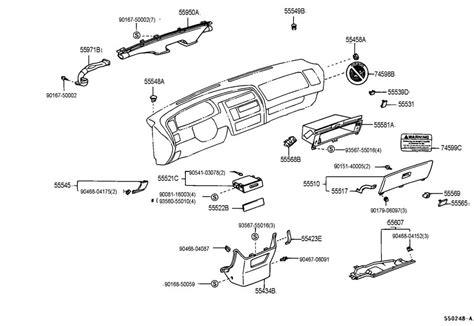 1995 Toyotum Camry Part Diagram by 1995 1997 Toyota Avalon Dash Trim Caps Adobe Brown