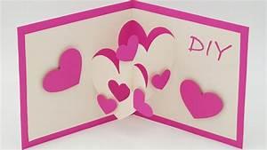 Pop Up Karte Basteln Geburtstag : pop up karten basteln mit papier herz karte selber machen diy ~ Frokenaadalensverden.com Haus und Dekorationen