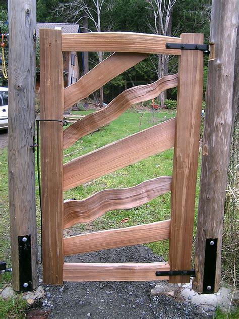 sun pedestrian gate cedar sustainable woodwork