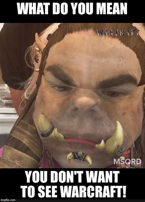 Warcraft Meme - what do you mean you don t want tot see warcraft imgflip