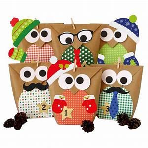 Weihnachtskalender Selber Basteln : diy adventskalender set zum basteln weihnachtseulen rot mit zus tzlicher dekoration eulen ~ Orissabook.com Haus und Dekorationen