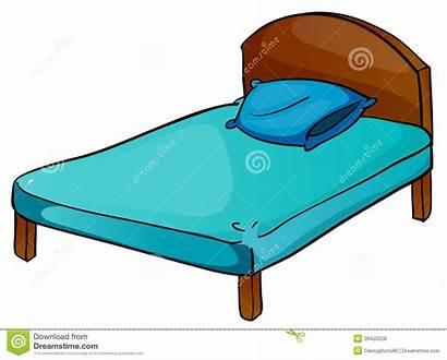 Bed Pillow Clipart Cartoon Illustration Wooden Mattress