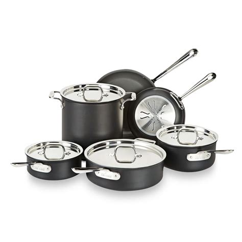 cookware sets pots pans cooking kitchenware cook saucepan clad induction stainless