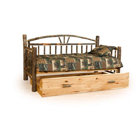 rustic arch back daybed with trundle farmhouse and cottage