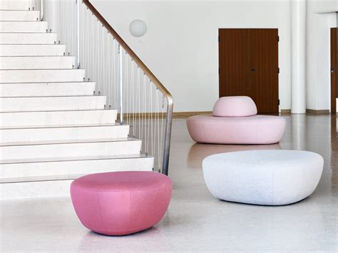 Fabric Pouf Bed Sisters By Softline Design Busk + Hertzog