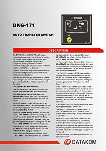 datakom dkg 171 generator mains auto transfer switch panel ats buy in uae