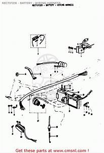 Suzuki T125 Ii R 1971  Usa  Rectifier - Battery - Wiring Harness