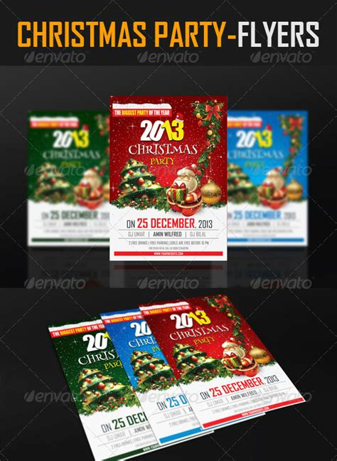 christmas holiday psd ai flyer templates pixel curse