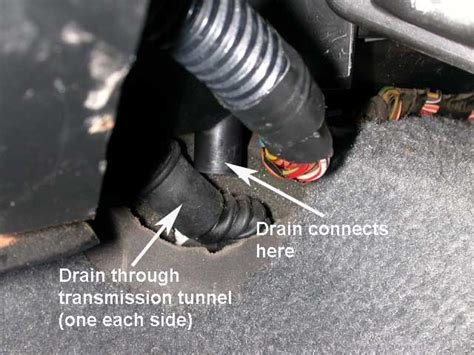 Water in the drivers side foot well