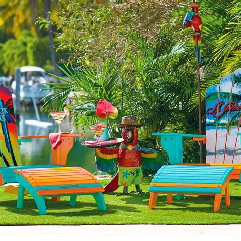 Margaritaville 5 O'Clock Somewhere Adirondack Chair and Ottoman Frontgate