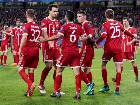 Die Aufstellungen Fc Bayern München Gegen Fc Sevilla