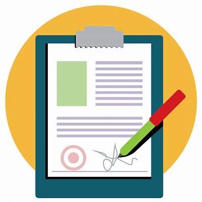 Icon Paper Pen Signature Document Petition Clipart