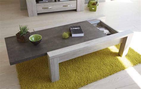 table bar de cuisine avec rangement table basse en couleur bois gris contemporain et plateau