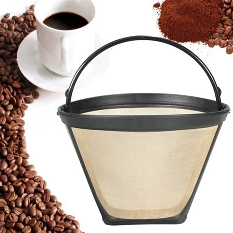 Shop for gold cone coffee filters online at target. Replacemnt Permanent Reusable size 4 #4 Cone Shape Coffee ...