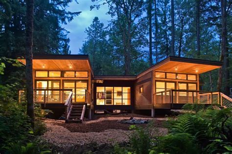 method homes completes traditional craftsman style doe bay prefab cottage  orcas island