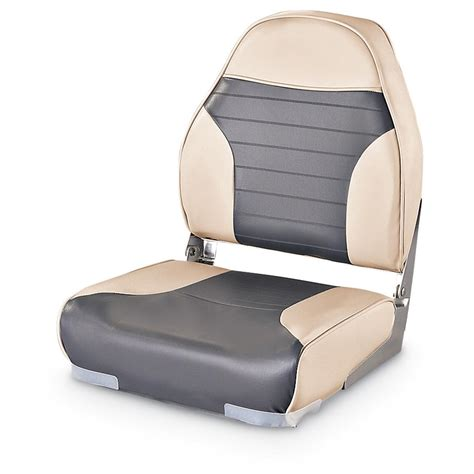High Back Fishing Boat Seats by Guide Gear High Back Folding Boat Seat 217024 Fold