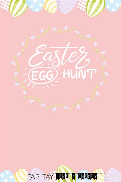 easter egg hunt invitation party   cherry
