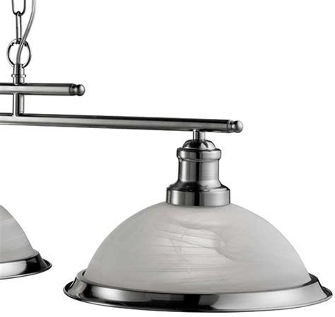 bistro retro satin silver 3 l kitchen pendant light bar