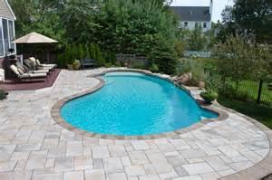 Pavers For Pool Decks by Pool Design Options Northern Pool Amp Spa Me Nh Ma