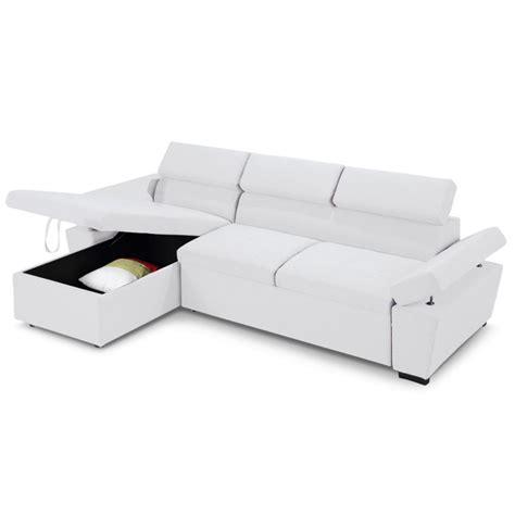 canapé avec coffre rangement canapé d 39 angle convertible avec coffre de rangement blanc