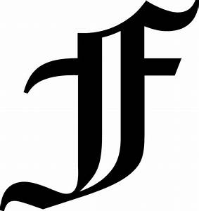 "Old English Letter F Initial Decal 5.75"" choose color! 
