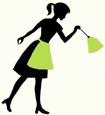 Cleaning Clip Lady Clipart Ladies Silhouette Cliparts