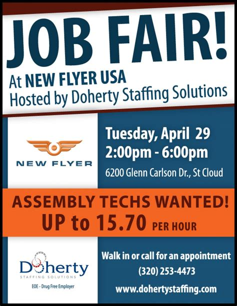 Doherty Job Fair Tuesday, April 29 In St Cloud For New. T Shirt Form Template. Va Appeal Letter Samples Template. Staff Evaluation Form Template. Rent Increase Letter To Tenants Template. Verification Of Employment Letter Template. Powerpoint Templates Mathematics Free Download Template. What Is A Breakeven Analysis Template. Course Evaluation Template
