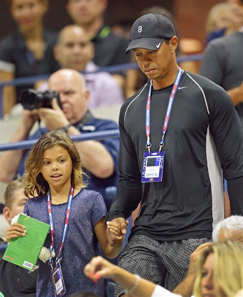 Tiger Woods took his daughter to watch Nadal at the U.S ...