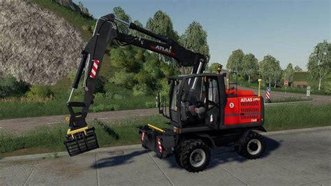 excavator atlas pack  fs farming simulator