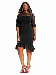 Femme Ronde Robe : robe nouvel an 2016 des id es de tenue pour les femmes rondes robe noire femme hauts ~ Preciouscoupons.com Idées de Décoration