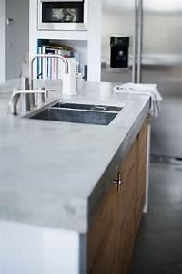 Arbeitsplatte Holz Küche : arbeitsplatte aus beton kueche ideen kuechenfronten holz industrial stil spuele renovierung ~ Sanjose-hotels-ca.com Haus und Dekorationen