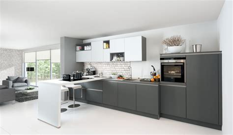 contemporary modular kitchen  glass fronts handle