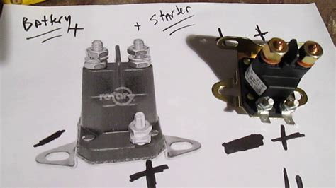 easy test solenoid riding lawn mower tractor  start