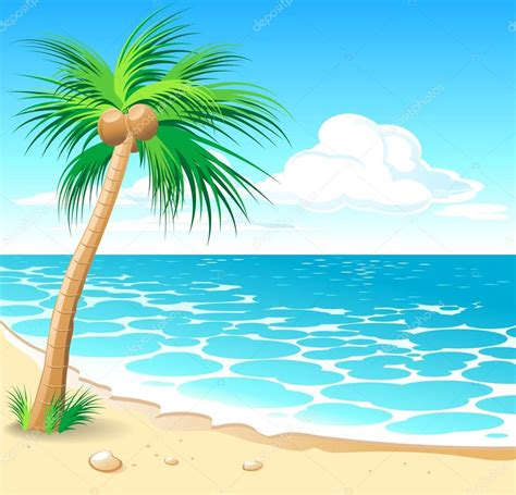 Tropical Beach — Stock Vector © Elenita #29712017