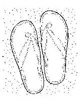 Sandals Coloring Sand sketch template