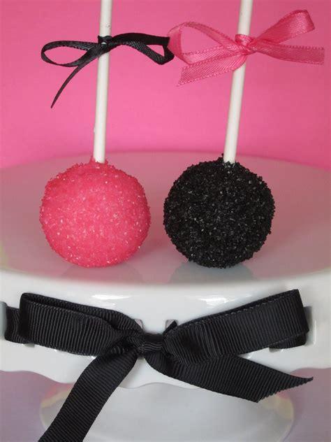 sugar sprinklers pink  black cake balls cake pops