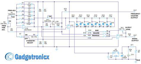 diy function generator circuit using op gadgetronicx