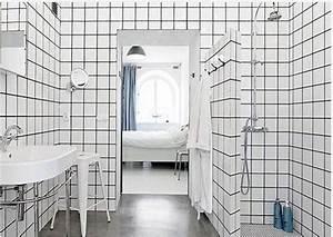Carrelage Noir Salle De Bain : du carrelage blanc dans la salle de bain c 39 est zen ~ Dailycaller-alerts.com Idées de Décoration