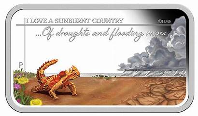 Sunburnt Country Sweeping Plains Land Coin Australia