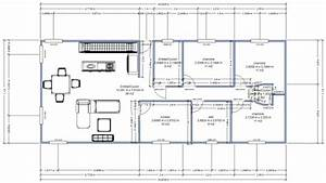 plan de maison terrain en longueur With plan de maison en longueur