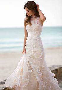 45 beautiful and relaxed beach wedding dresses weddingomania With beautiful beach wedding dresses