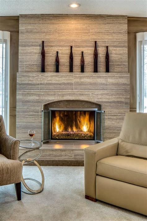 25 best ideas about tiled fireplace on