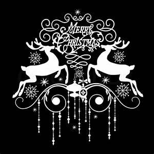 Merry Christmas Black And White – Gclipart.com