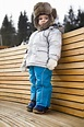 Child wearing winter hat stock photo. Image of outdoors ...