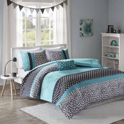 mi zone chloe comforter set  teal bed bath